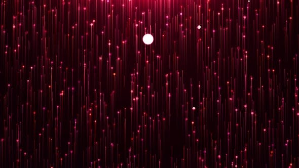 Thumbnail for Glamorous Red Shine Line and Particles on a Black Background
