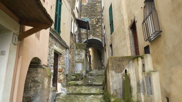 Thumbnail for A Narrow Pedestrian Street with in the Old European Town