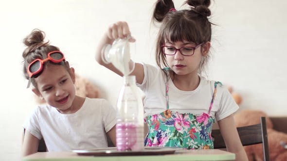 Thumbnail for Entertaining Science. Children Conduct a Scientific Experiment at Home