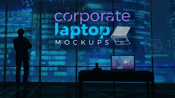 Thumbnail for Corporate Laptop Mockups