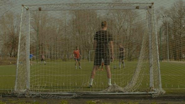 Footballer Dribbling, Creating Opportunity to Score
