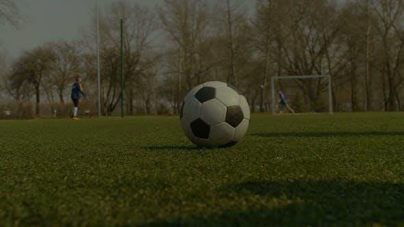 Thumbnail for Footballer Kicking Soccer Ball During Free Kick