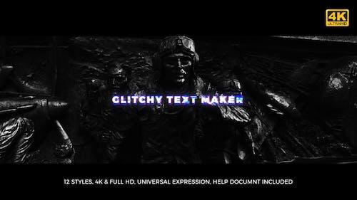 Glitchy Text-Maker