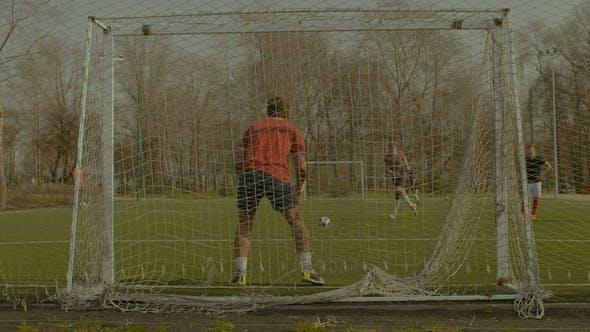 Thumbnail for Striker Scoring a Goal After Penalty Kick