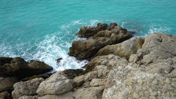 Thumbnail for Waves Break on the Coastal Cliffs
