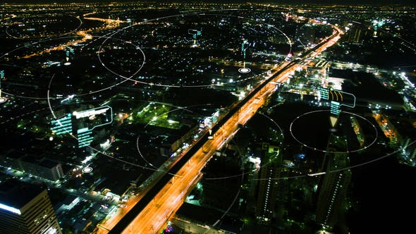 Thumbnail for Futuristic Digital Data Connection City