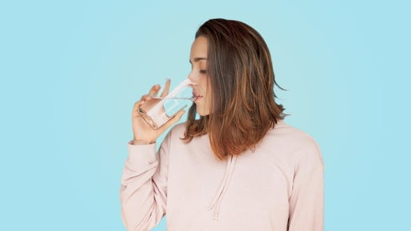 Thumbnail for Healthy Beautiful Woman Drinks Glass of Water