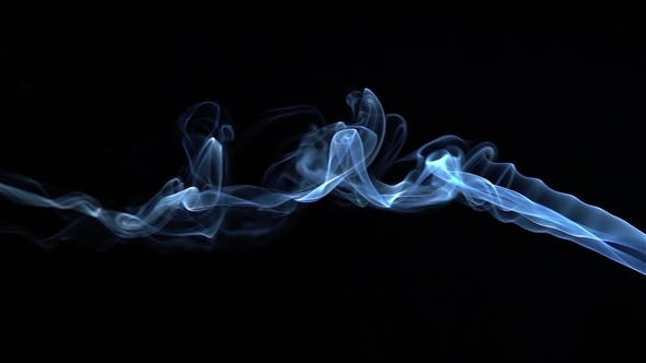 Thumbnail for Blue Smoke Billow and Swirl in  on Black Background