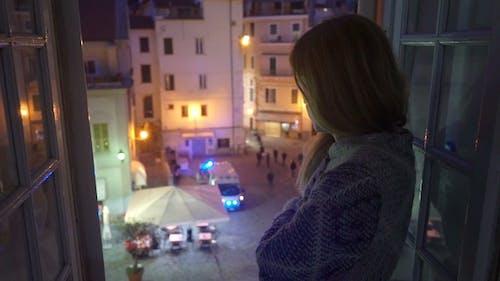 Ein Nacht-Vorfall in der Stadt