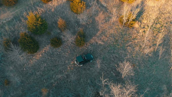 Aerial View of Off Road Vehicle