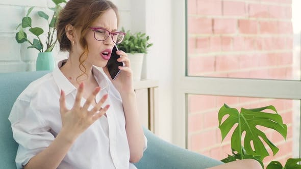 Thumbnail for Woman Angry Having Fight on the Phone with Boyfriend