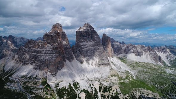 Cover Image for National Nature Park Tre Cime In the Dolomites Alps. Beautiful Nature of Italy