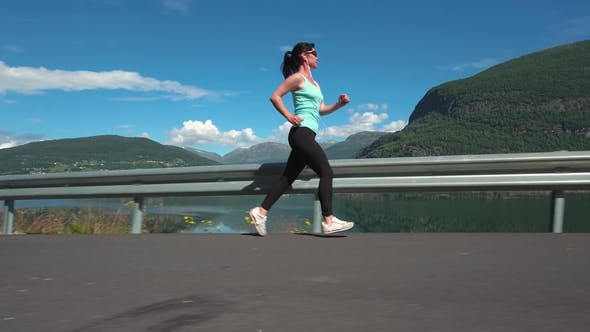 Thumbnail for Woman Jogging Outdoors