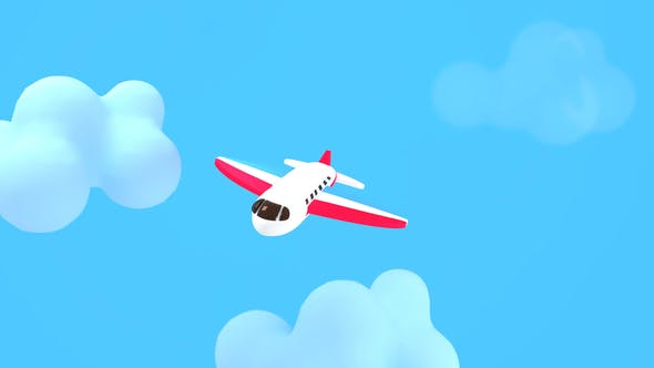 Thumbnail for Cartoon Airplane in the Sky