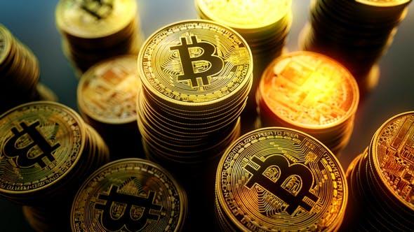 4K Bitcoin Stash Orbit Seamless Loop