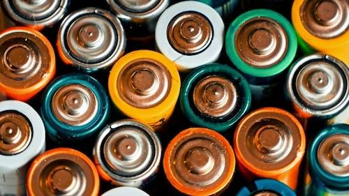 Gebrauchte Batterien verschiedener Hersteller