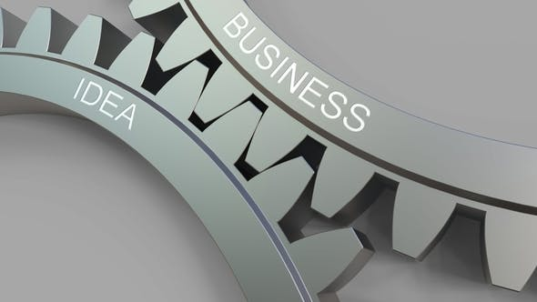 Thumbnail for BUSINESS IDEA Caption on Meshing Gears