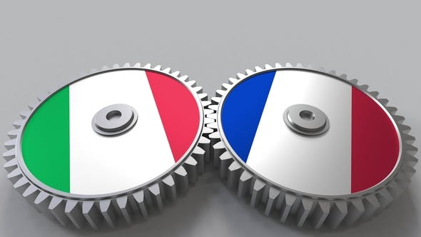Thumbnail for Flags of Italy and France on Meshing Gears