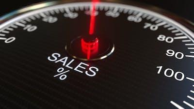 Sales Meter or Indicator