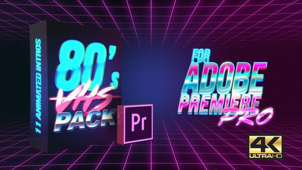 Thumbnail for 80's VHS Intro Pack | MOGRT for Premiere Pro