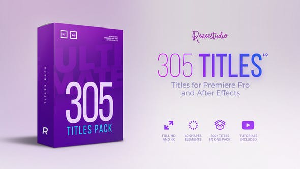 Thumbnail for 305 Titles Ultimate Pack for Premiere Pro & After Effects
