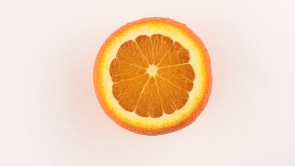 Thumbnail for Cutted Orange Fruit Rotating