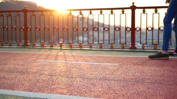 Walk Feet Sport Sunset