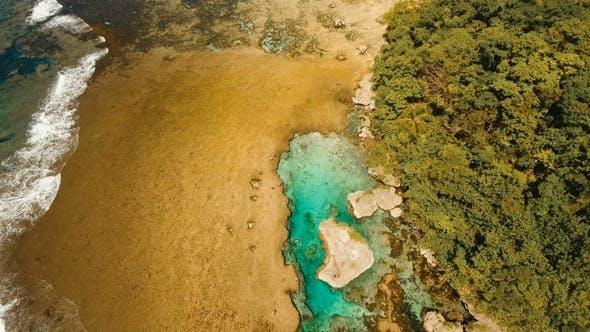 Thumbnail for Magpupungko Natural Rock Pools. Aerial View: Philippines, Siargao