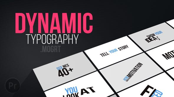 Download 1 Kinetic Typography Pack Editable Video Templates