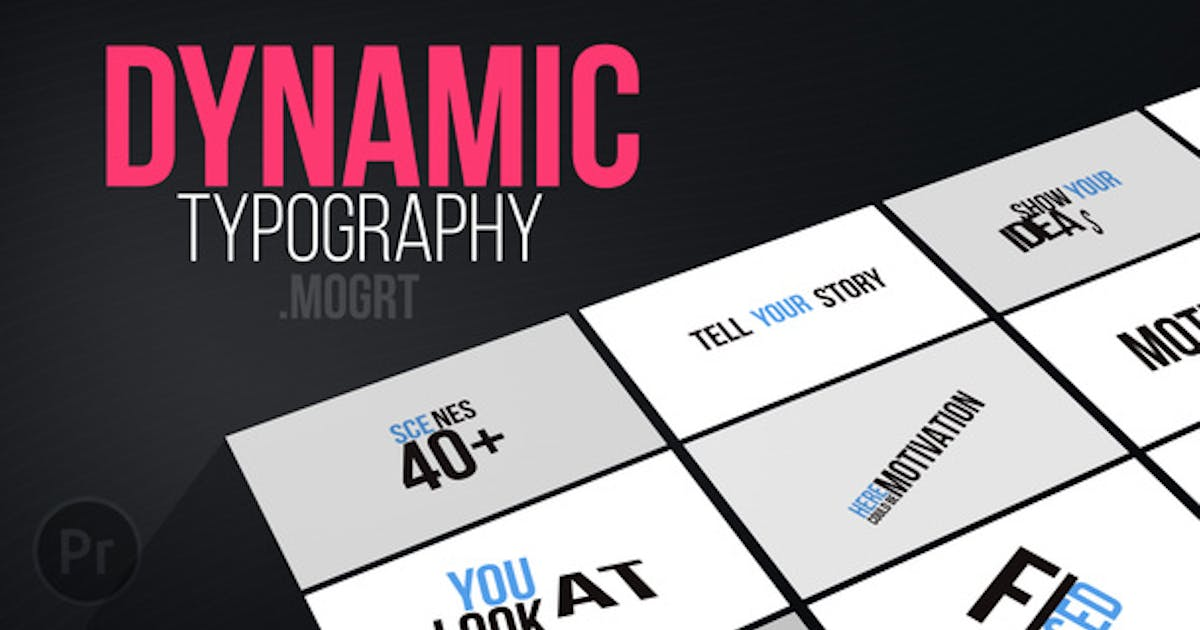 Download Dynamic Typography   Mogrt by aniom
