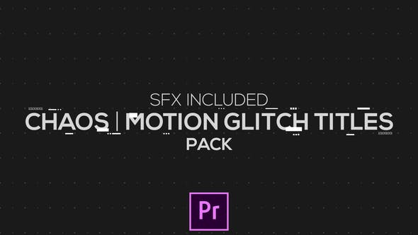 Thumbnail for Chaos | Motion Glitch Titles | MOGRT for Premiere Pro