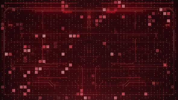 Thumbnail for Red Abstract Digital Background