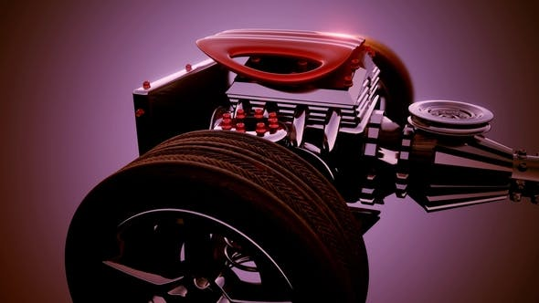 Thumbnail for Car Chassis with Engine