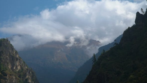 Clouds in the Himalayas
