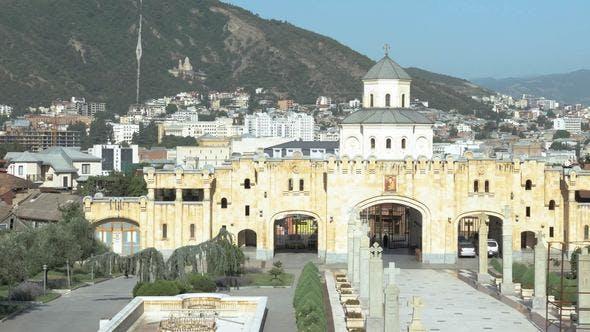 Thumbnail for Holy Trinity Cathedral of Tbilisi Tsminda Sameba in Georgia