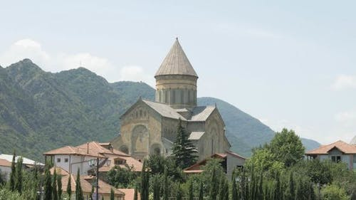 Georgian Monastery in City Mtskheta
