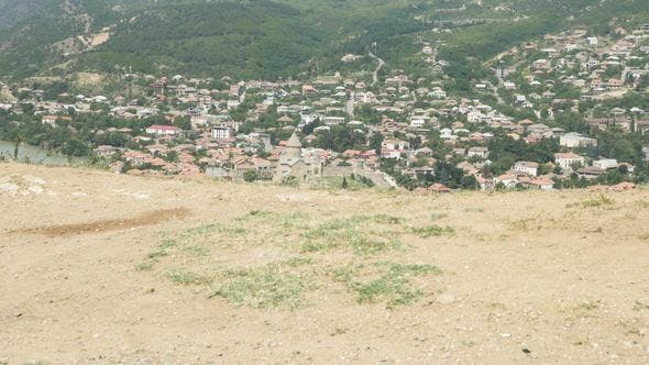 Thumbnail for View to Ancient City Mtskheta from Jvari Area in Georgia