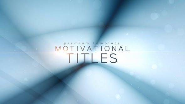 Thumbnail for Motivational Titles