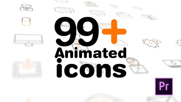 Thumbnail for 99+ Icons Mogrt