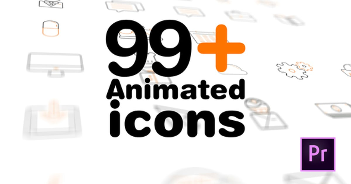 99+ Icons Mogrt by videokracy