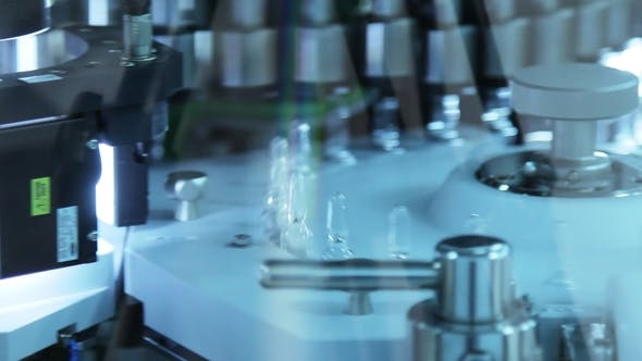 Thumbnail for Medical Ampoules Production Line. Pharmaceutical Quality Control of Medical Vial