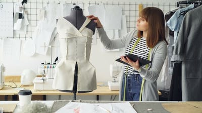 Fashion Designing Entrepreneur Is Working