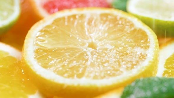 Thumbnail for Video of Sugar Fallling on Freshly Cut Lemon Slice
