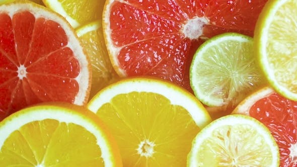 Thumbnail for Footage of Falling Orange, Lemon and Grapefruit Slices