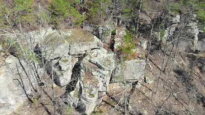 Aerial of Rock Boulders in Mountains