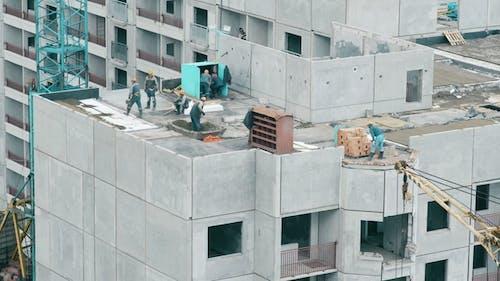 Builders Build a Multi-storey House