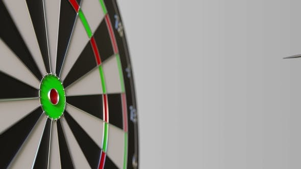 Thumbnail for Dart Featuring Flag of Canada Hits Bullseye of the Target