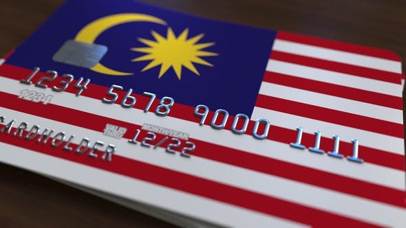 Thumbnail for Plastic Bank Card Featuring Flag of Malaysia