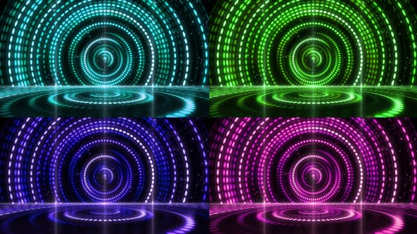 Thumbnail for Retro Stage Awards Lighting Background 03