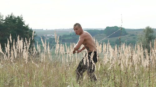 Free Fighter Training with Pungent Peg in Wild Field